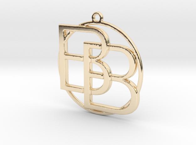 B&B monogram in 14k Gold Plated Brass