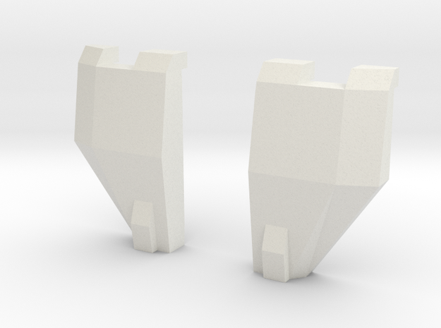Move out Chest plate in White Natural Versatile Plastic