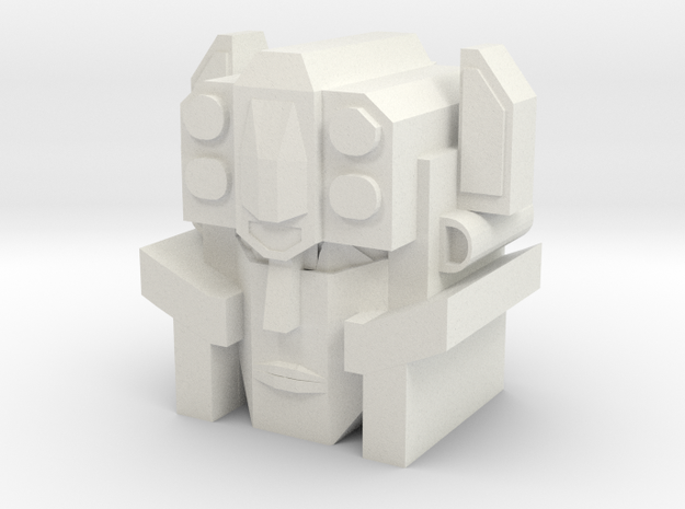 Move out Head in White Natural Versatile Plastic