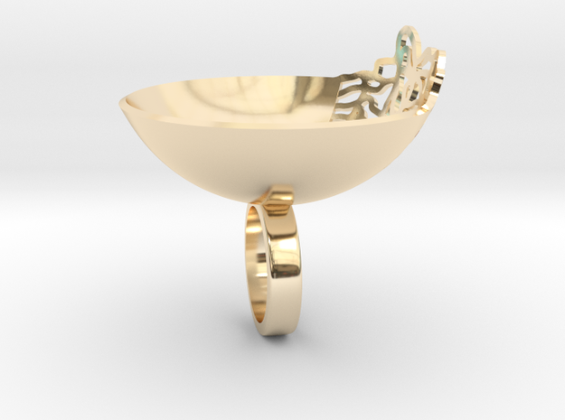 141 RING in 14k Gold Plated Brass