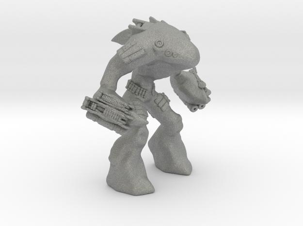 Mecha Shark Jaeger Mech Miniature games rpg in Gray PA12
