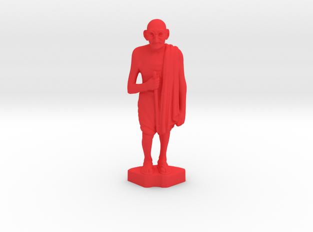 Ivory Gandhi v4 in Red Processed Versatile Plastic: Medium