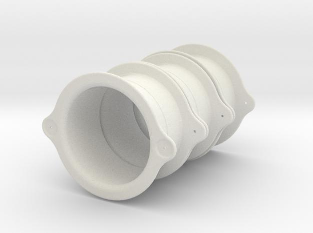Hood Vent rings 6pcs in White Natural Versatile Plastic