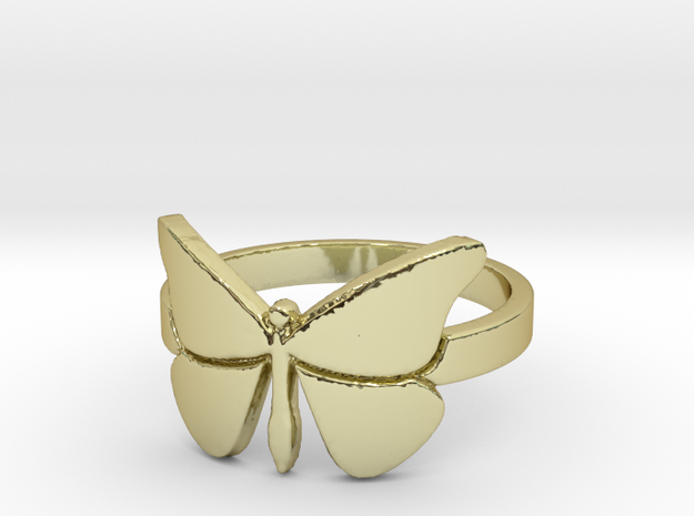 Butterfly (large) Ring Size 7 in 18k Gold