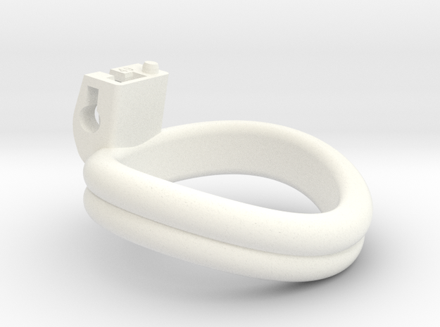 Cherry Keeper Ring - 49mm Double in White Processed Versatile Plastic