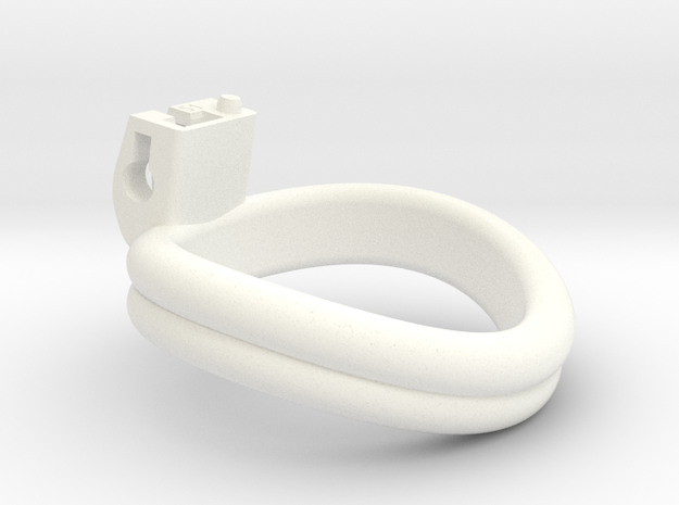 Cherry Keeper Ring - 51mm Double in White Processed Versatile Plastic