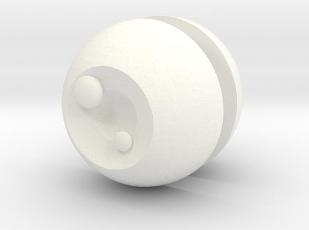 Anime eyes for BJDs in White Processed Versatile Plastic: Medium