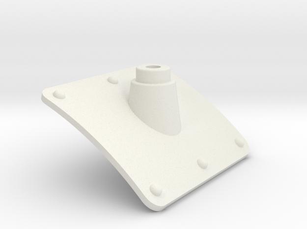 EC135 Tail Boom Antenna Base 1/4 in White Natural Versatile Plastic