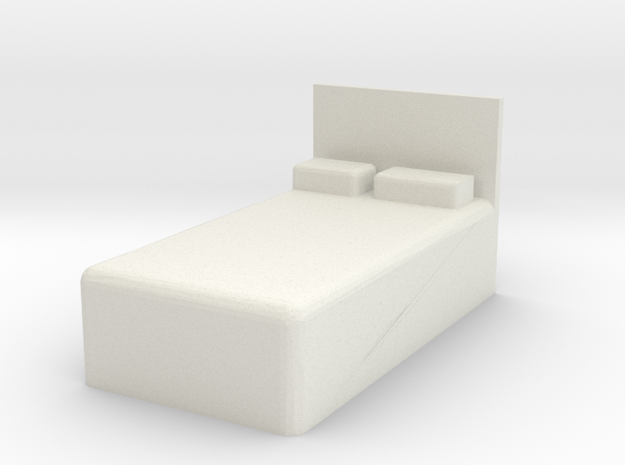 Twin Bed 1/43 in White Natural Versatile Plastic