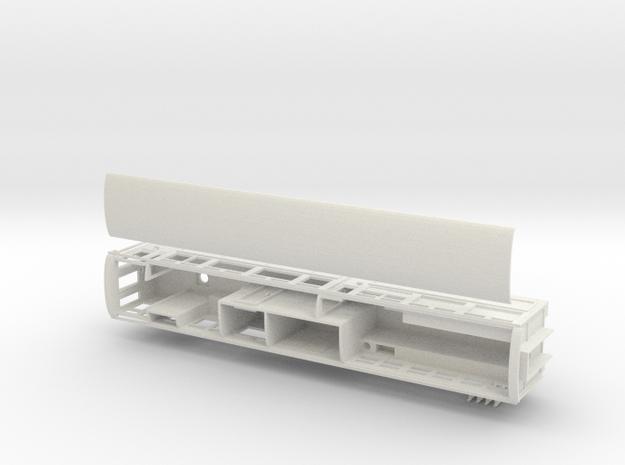 Ffestiniog Rly Superbarn service coach NO.125 in White Natural Versatile Plastic