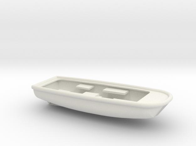 1/96 Scale 33 ft Plane Rearming Boat in White Natural Versatile Plastic
