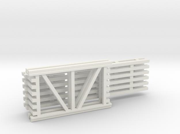 42X72 & 120 Beam Kit 1-87 HO Scale in White Natural Versatile Plastic