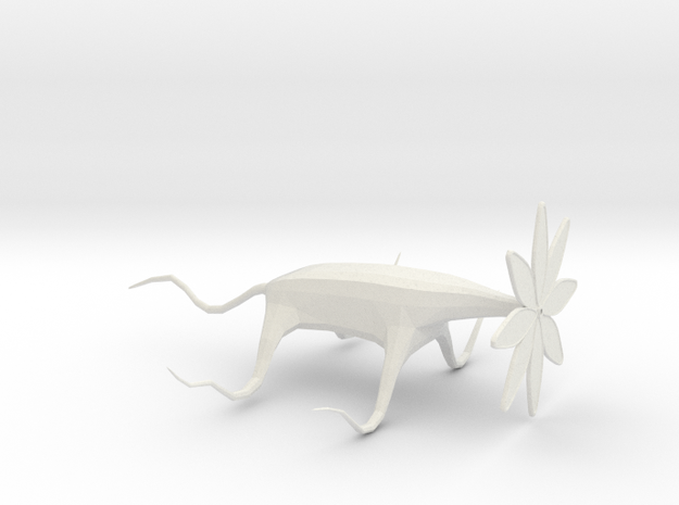 Crawling Monster Flower in White Natural Versatile Plastic: Extra Small
