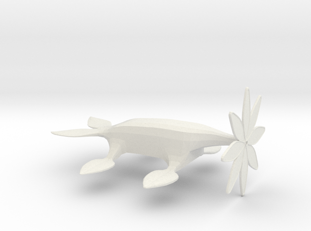 Crawling Monster Flower 2 in White Natural Versatile Plastic: Extra Small
