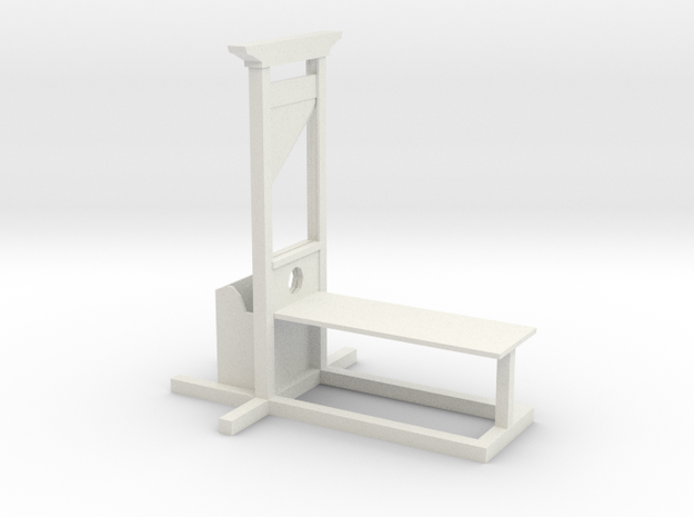 Guillotine in White Natural Versatile Plastic: Small