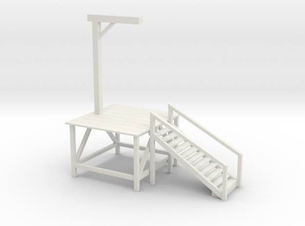 Gallow 2 in White Natural Versatile Plastic: Extra Small