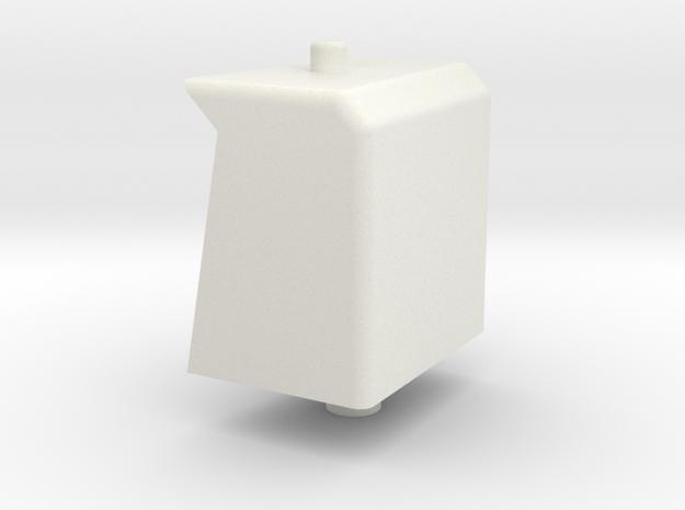 JD 30-40 series aux fuel tank in White Natural Versatile Plastic