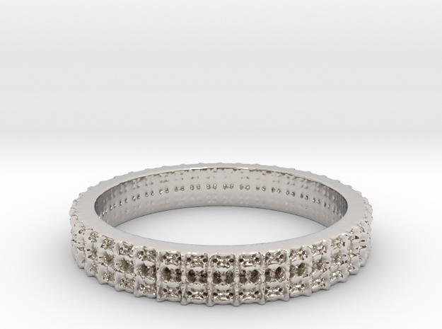 Crown Flakes Female Wedding Band in Platinum: 5.5 / 50.25