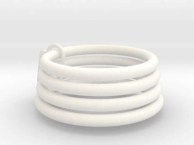 Chastity Sizing Rings in White Processed Versatile Plastic: Medium