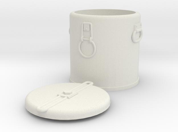 1:16 M1941 Mermite Food or Blood Container Set in White Natural Versatile Plastic