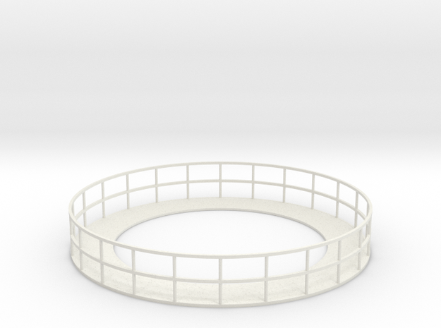 Walkway 5 - HOscale in White Natural Versatile Plastic