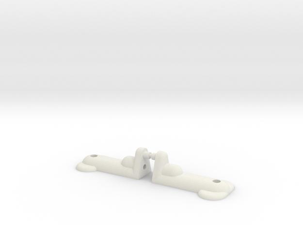 RC10T - REAR BODY MOUNT - .25 LONGER in White Natural Versatile Plastic