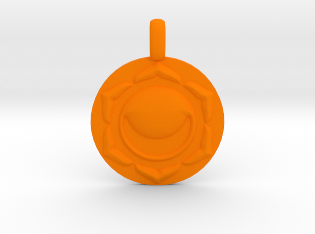 SACRAL SWADHISTANA Chakra Symbol Pendant in Orange Processed Versatile Plastic