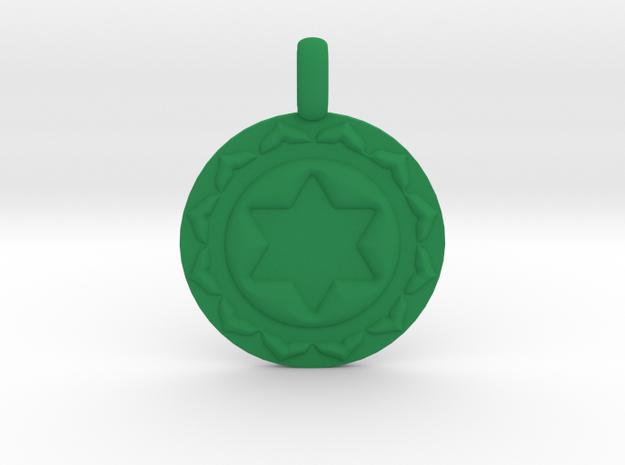 ANAHATA HEART Chakra Symbol Pendant in Green Processed Versatile Plastic