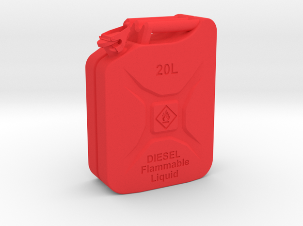 Jerry Can Diesel HD 1:10 in Red Processed Versatile Plastic: 1:10