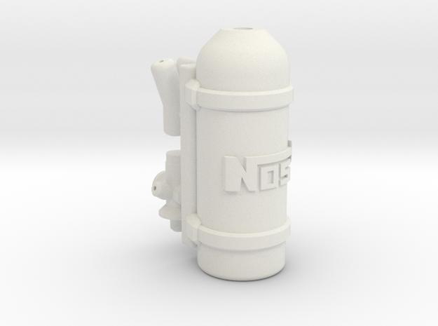Nitrous Oxide tank NOS 1:10 in White Natural Versatile Plastic: 1:10