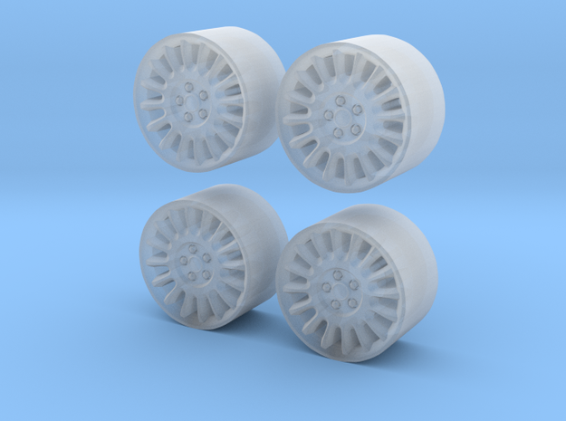 Police Dodge Charger wheels 1/64 in Smooth Fine Detail Plastic