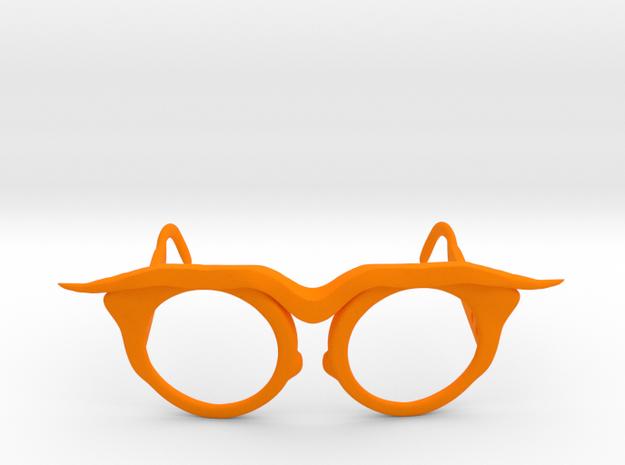 Frida Glasses in Orange Processed Versatile Plastic: Small