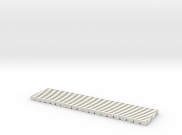 planche de rive SNCV HO 79.5 mm 10 pieces in White Natural Versatile Plastic: 1:87 - HO