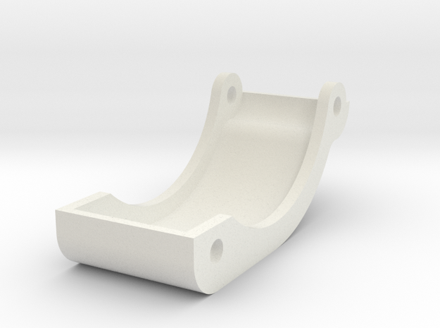 Reproduction of CRP-3045 ORV Blackfoot skid plate in White Natural Versatile Plastic