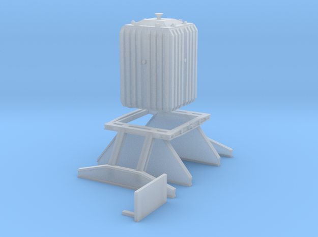 Nuclear flask and cradle for 4mm:1ft BR Rectank in Smoothest Fine Detail Plastic