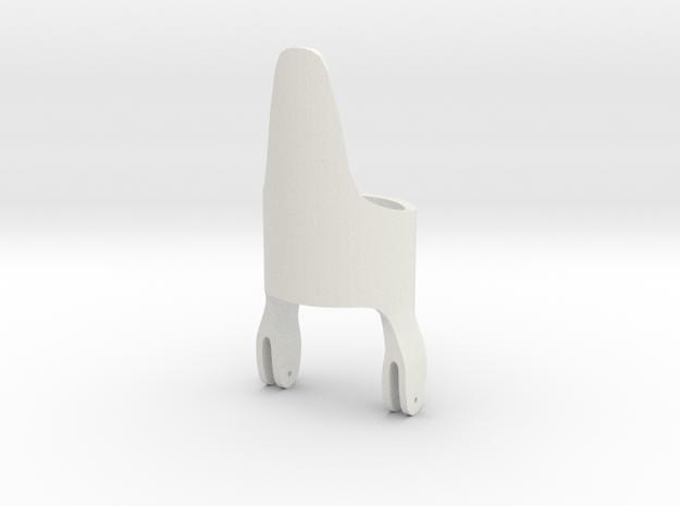 Hinge Ring Hyena Half Size Tester in White Natural Versatile Plastic: 8 / 56.75