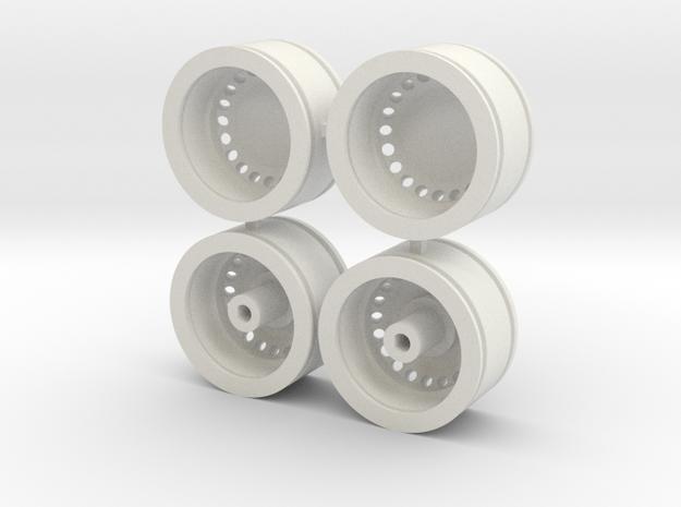 Velgen/Rims, Dickie VW T2B, scale 1:14 in White Natural Versatile Plastic