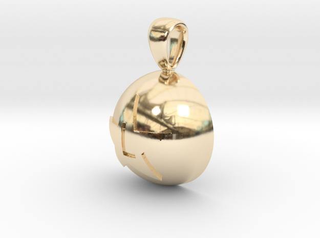 Boule de crystal L in 14K Yellow Gold
