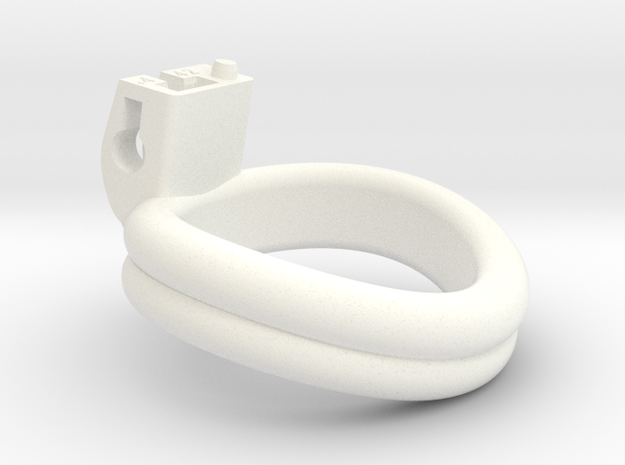 Cherry Keeper Ring - 42mm Double +4° in White Processed Versatile Plastic