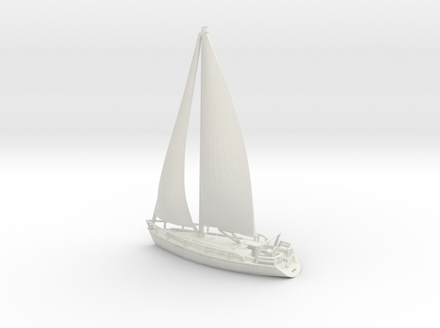 SailBoat 02 with sails. N Scale (1:160)