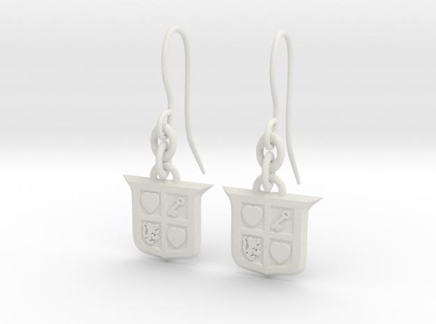 Legend of Zelda Inspired Earrings With Hooks in White Natural Versatile Plastic