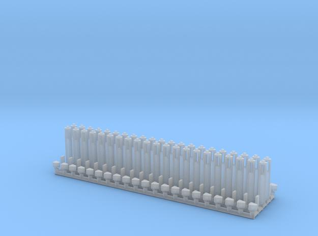 H0 1:87 Leitpfosten / Leitpflock 脰sterreich in Smooth Fine Detail Plastic