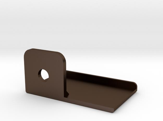 Steel Targa Top Left Bracket for a Celica Sunchase in Polished Bronze Steel