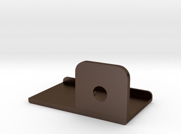 Steel Targa Top Right Bracket for a Celica Sunchas in Polished Bronze Steel