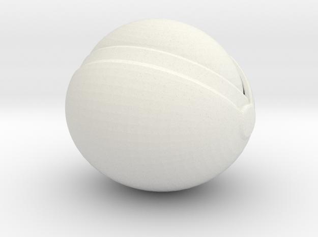 SpaceHelmetv3l1Large in White Natural Versatile Plastic