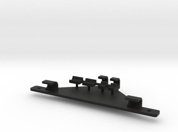 Schnellwechsler 1:18 für Pistenraupen-Anbaugeräte  in Black Natural Versatile Plastic