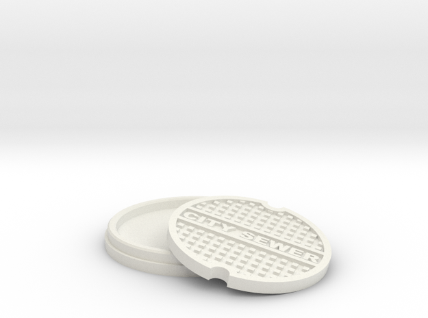 Sewer in White Natural Versatile Plastic