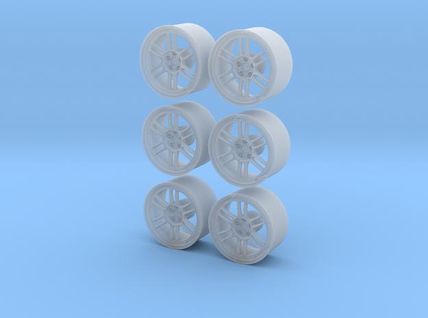 "6 Enkei RPF1 18"" Pack 1/24 in Smooth Fine Detail Plastic"