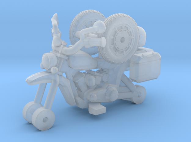 1-87 Scale Junkyard Courier Motorcycle in Smooth Fine Detail Plastic