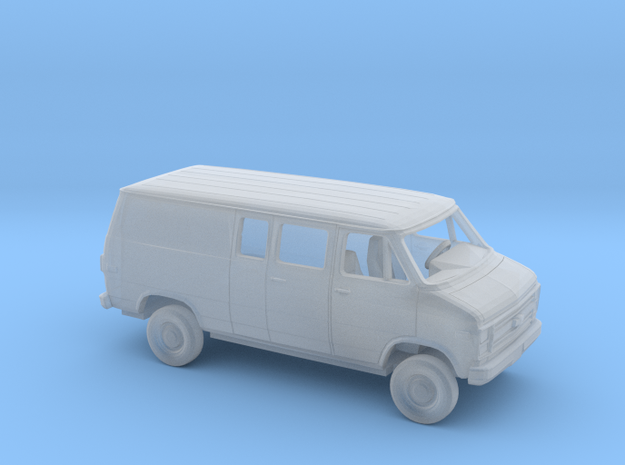 1/87 1984 Chevy G Van Ext Partial Windows in Smooth Fine Detail Plastic